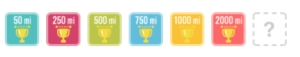 These are the badges I've earned since getting my Fitbit® in Jan, 2013.